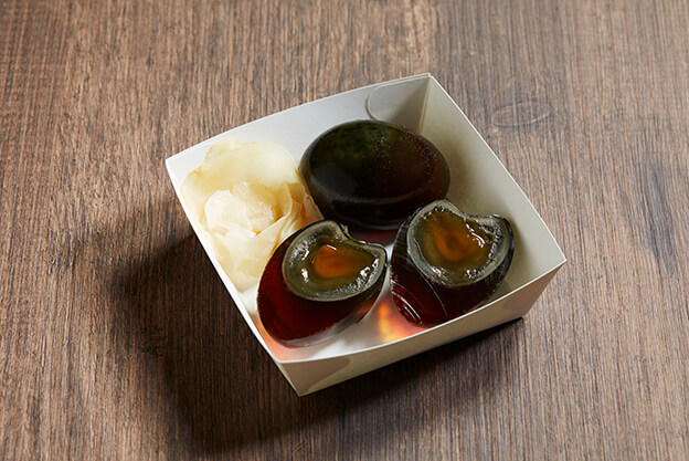 Century Egg with Ginger Pickle