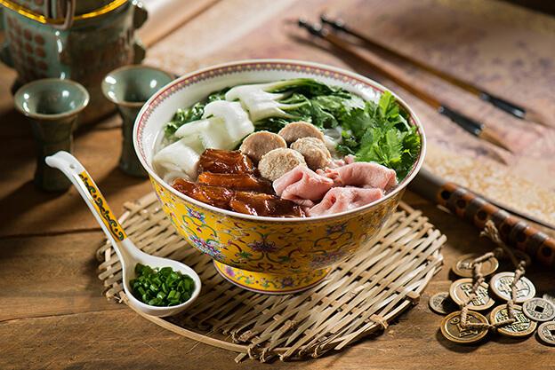 Trio Beef Combo Noodles